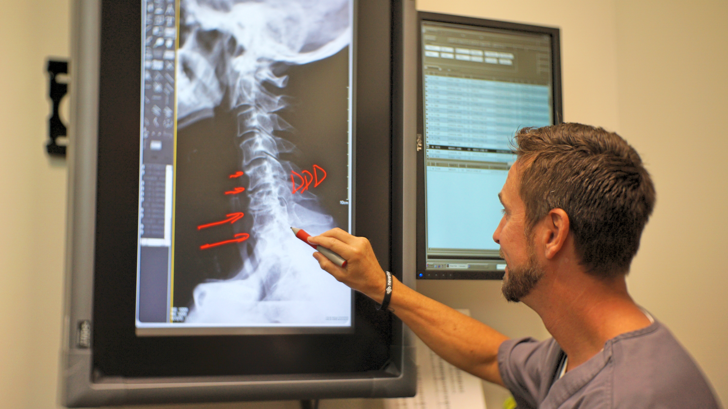 Dr. Todd reading X-rays